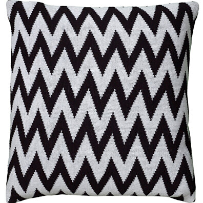 "Chevron Pattern Black Pillow Cover (20"" x 20"")"