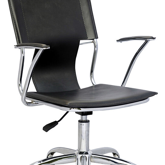 Pneumatic Lifting Arms : Buy chrome black office swivel arm chair with pneumatic