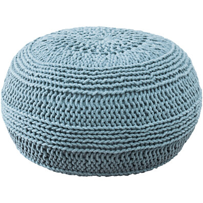 "Contemporary Aqua Pouf (14""x20"")"