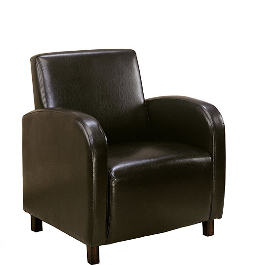 Accent Chair With Brown Leather Sofa