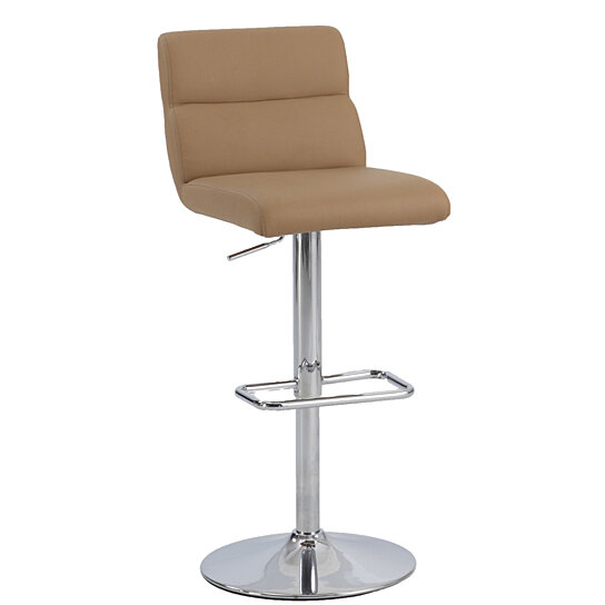 Buy Gold Ribbed Pattern Back Pneumatic Stool By Michael Anthony Furniture On Dot Bo