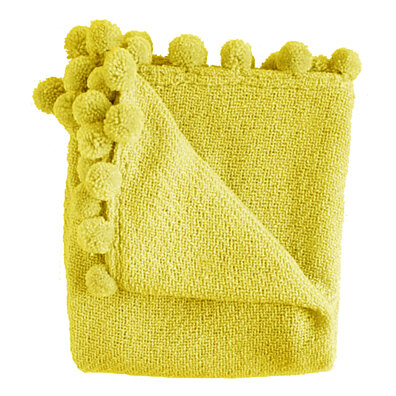 Jubilee Yellow Boucle Throw