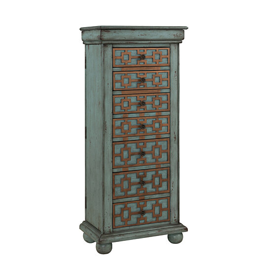 Buy Keller Blue Jewelry Armoire by Michael Anthony Furniture on