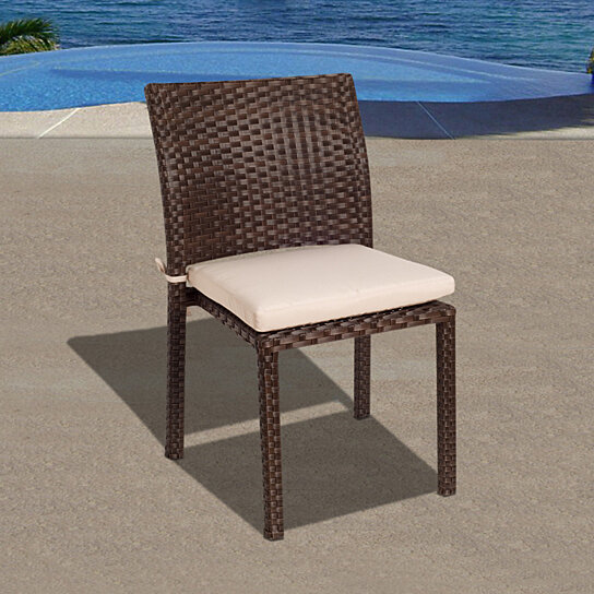 Buy Liberty Wicker Patio Chairs With Off White Cushions
