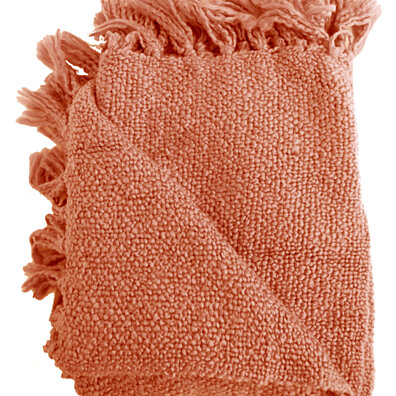 Marion Coral Boucle Throw