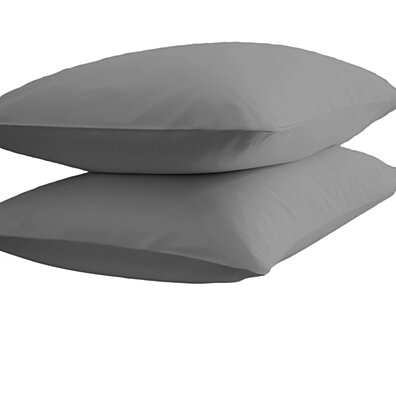 Michael Anthony 2 Pc Standard Pillowcase Set- Grey