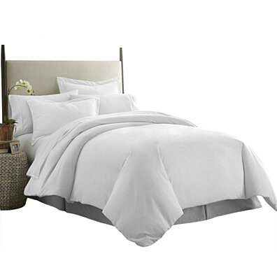 Michael Anthony 3 Pc Full/Queen Duvet Cover Set- White