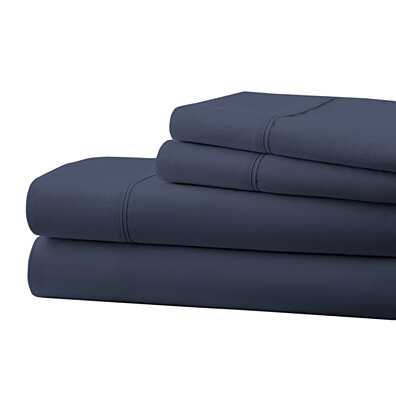 Michael Anthony 4 Pc King Sheet Set- Navy