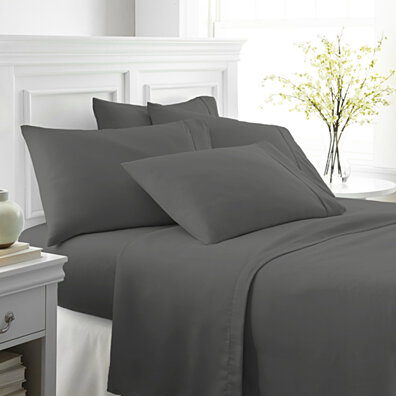 Michael Anthony 6 Pc King Sheet Set- Grey