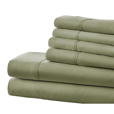 Michael Anthony 6 Pc King Sheet Set- Sage