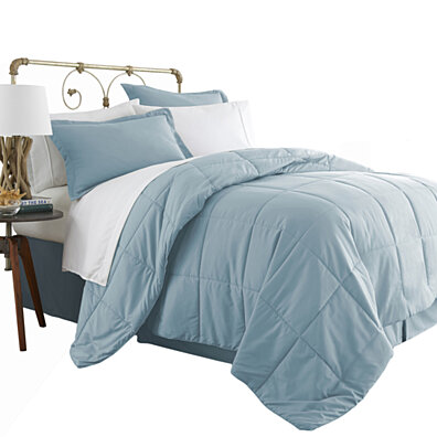 Michael Anthony 8 Pc King Bed in a Bag- Aqua