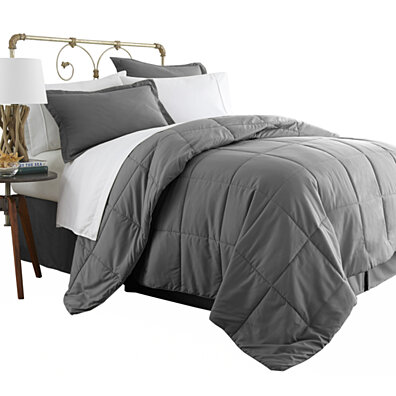 Michael Anthony 8 Pc Queen Bed in a Bag- Grey