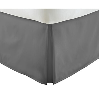 Michael Anthony Full Microfiber Bed Skirt- Grey