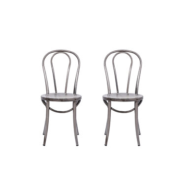 Michael Anthony Furniture Bistro Chair Distressed Metal 2Pk