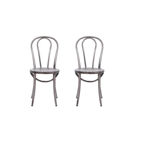 Buy Michael Anthony Furniture Bistro Chair Distressed Metal 2Pk By Michael Anthony  Furniture On Dot U0026 Bo