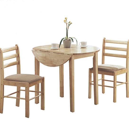 Buy Natural 3 Piece Dining Set with a 36quot Round Drop Leaf  : generous from www.dotandbo.com size 544 x 544 jpeg 39kB