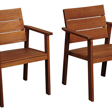 Nelson Eucalyptus Easy Carver Patio Chairs with Cushions - (Set of 2)