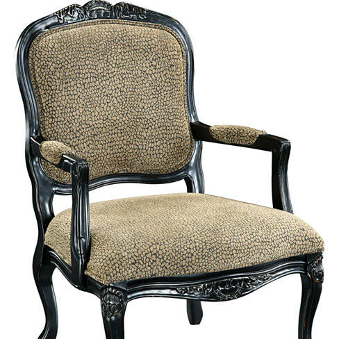 Buy Reptile Print Black Accent Chair by Michael Anthony