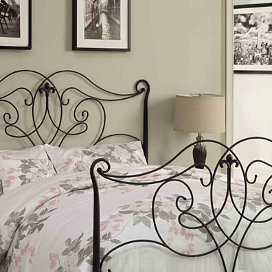 Satin Black Queen/Full Size Combo Headboard or Footboard Only