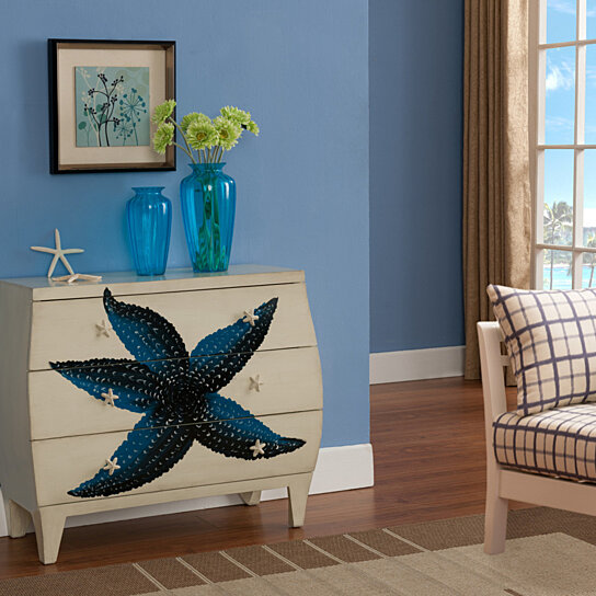 Buy Sea Life Starfish Ivory Three Drawer Chest By Michael