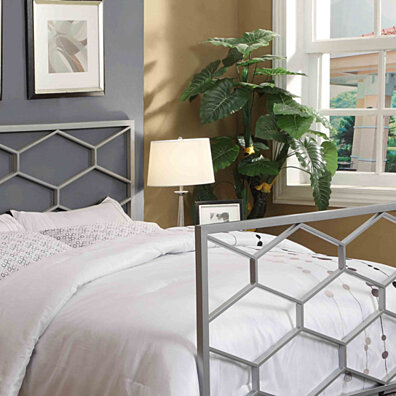 Silver Queen/Full Size Combo Headboard or Footboard Only