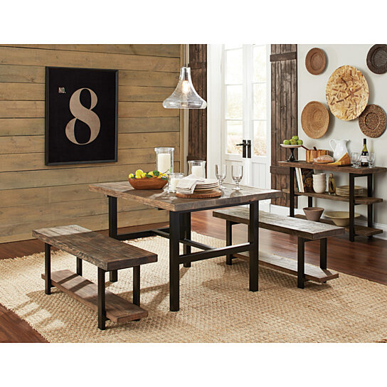 metal dining room furniture. buy sylvan reclaimed wood and metal dining table by michael anthony furniture on dot u0026 bo room