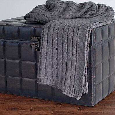 "Transitional Lt Gray Throw (50"" x 60"")"