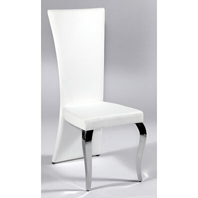 White Transitional Rectangular High Back Side Chair (Set of 2)