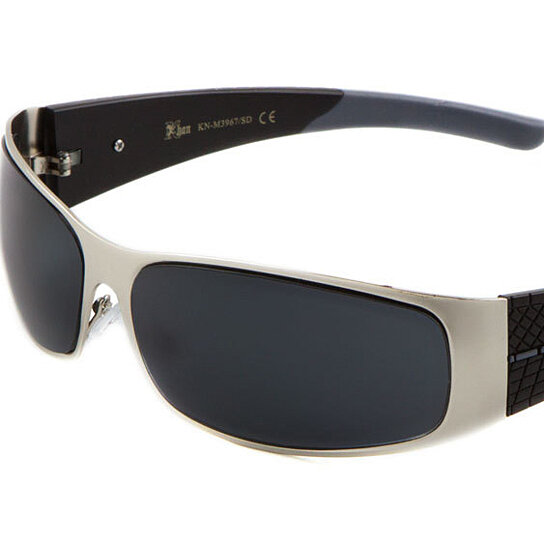 9012a7946c Buy KHAN Metal Wrap Around Sunglasses Super Dark Lens by Kawaii Boutique on  OpenSky