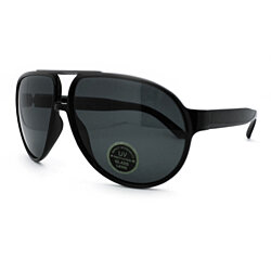 Large Flat Top Racer Oversized Aviator Sunglasses