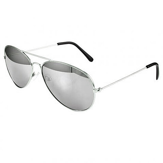 2bb02fecd95 Buy Pack of 2 Small Silver Aviator Sunglasses Mirror Lens by Kawaii  Boutique on OpenSky