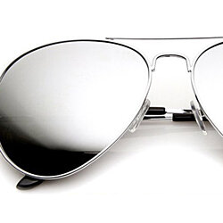Classic Tear Drop Metal Aviator Sunglasses Mirror Lens