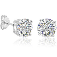 2 1/2ct Simulated Diamond Stud Earrings in Sterlnig Silver