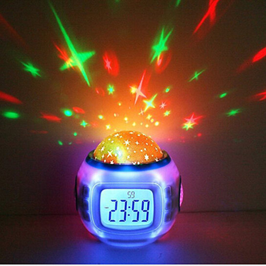 buy galaxy musical night light and alarm clock by. Black Bedroom Furniture Sets. Home Design Ideas