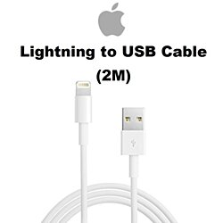 Apple 2M (6FT) Original Lightning To USB Cable MD819AM/A For iPhone, iPad, or iPod