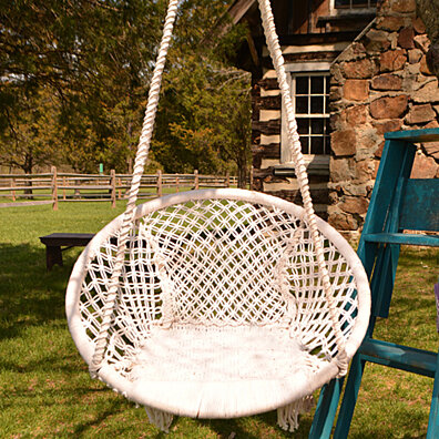 Roped In Macrame Swing