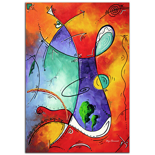 Buy Colorful Abstract Painting Free At Last Modern Wall