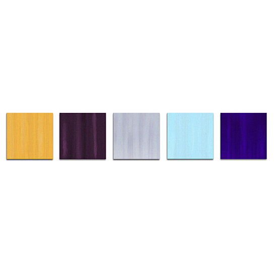 Colorful Multi Panel Art Dazzle Contemporary Painting Metal Giclee Pastel Abstract Home Accents Coastal Artwork Modern Office D Eacute C By