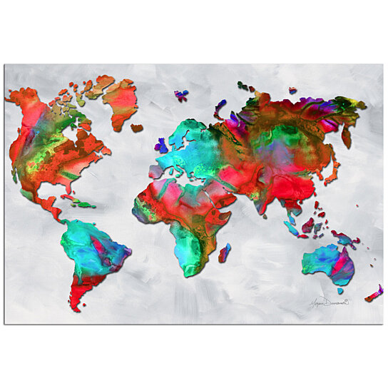 Buy Colorful World Map Art Beauty Of Color V2 5 Rainbow