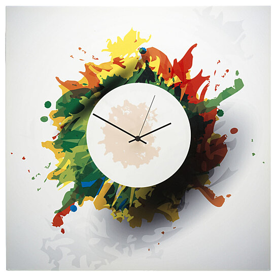 Buy colorful wall clock 39 splatter clock 39 22x22in bright for Unique modern home accessories