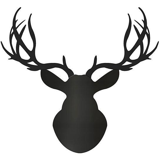 Buy Midnight Buck Large Pure Black Deer Cut Out By