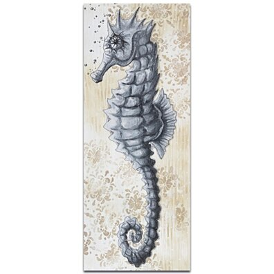 Modern Beach Decor 'Sea Fantasy v2' - Coastal Bathroom Art on Metal