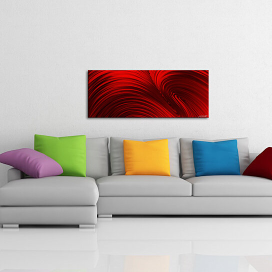Buy modern red art 39 fusion red 39 deep rich crimson art for Modern red decor