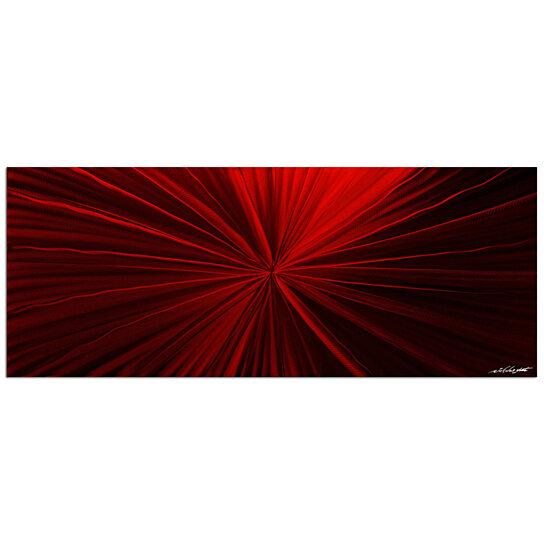 Buy modern red art 39 tantalum red 39 deep rich crimson art for Modern red decor
