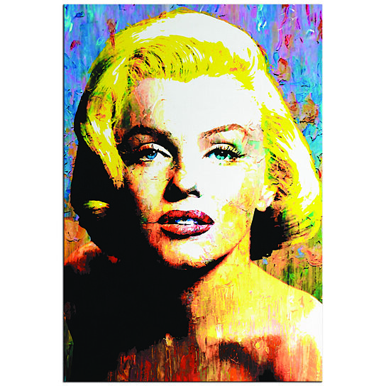 Buy Pop Art Marilyn Monroe Pop Culture Icon Painting Celebrity Art Abstract Artwork Urban Wall Art Colorful Metal Giclee By Mar By Modern Crowd On Dot Bo