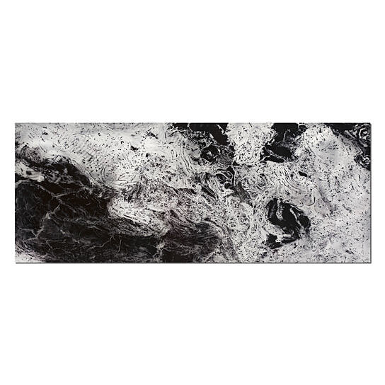 Buy storm black white modern metal artwork black for Modern black and white wall art