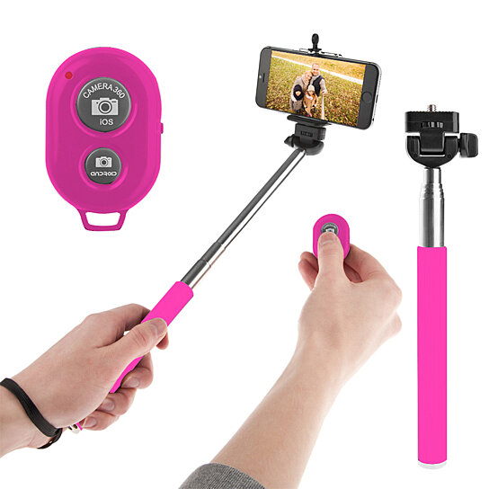 buy ihip bluetooth extendable selfie stick with wireless remote shutter by modern home group llc. Black Bedroom Furniture Sets. Home Design Ideas