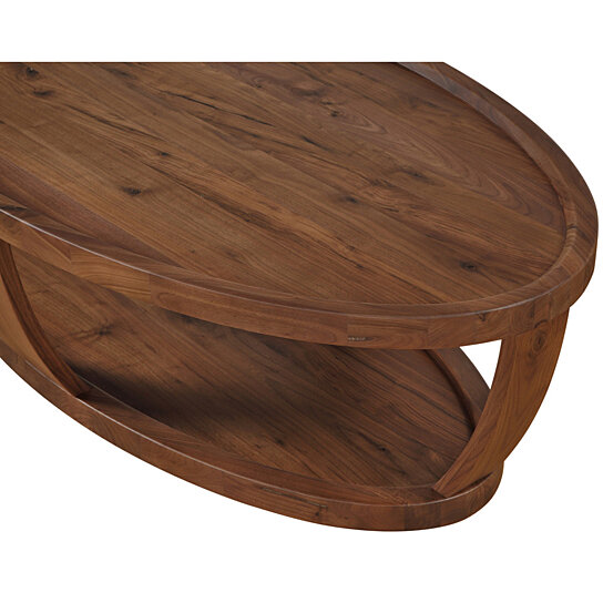 Rustic Wood Oval Coffee Table: Buy DYLAN OVAL COFFEE TABLE RUSTIC WALNUT By Moe's Home