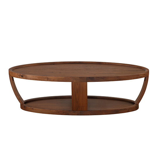 Buy Dylan Oval Coffee Table Rustic Walnut By Moe S Home