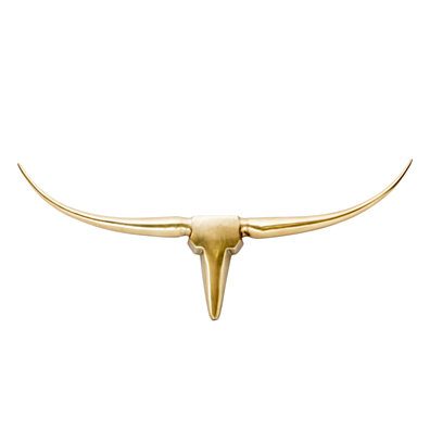 LONGHORN WALL DECOR SMALL GOLD